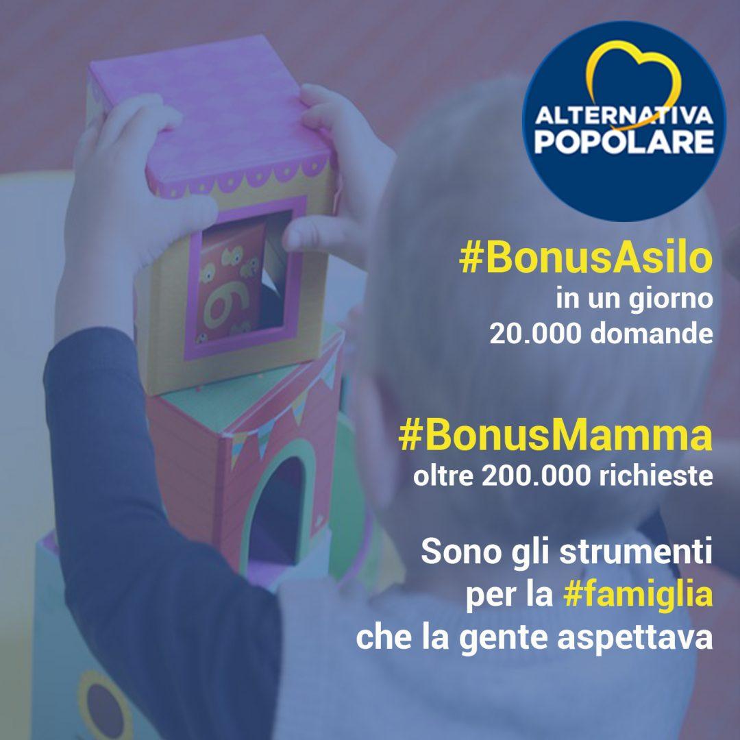 #BonusAsilo: nel primo giorno quasi 20.000 domande