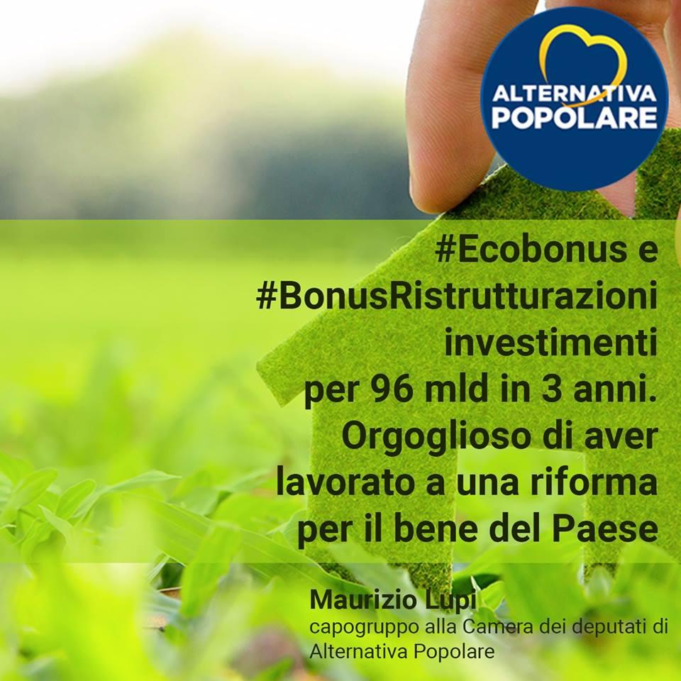 #Ecobonus e #BonusRistrutturazioni: i frutti delle buone politiche si vedono