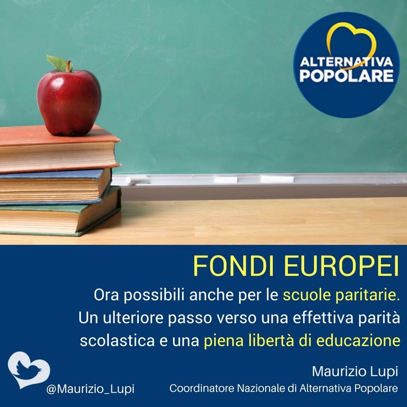 Scuola: Fondi europei ora possibili anche per le scuole paritarie