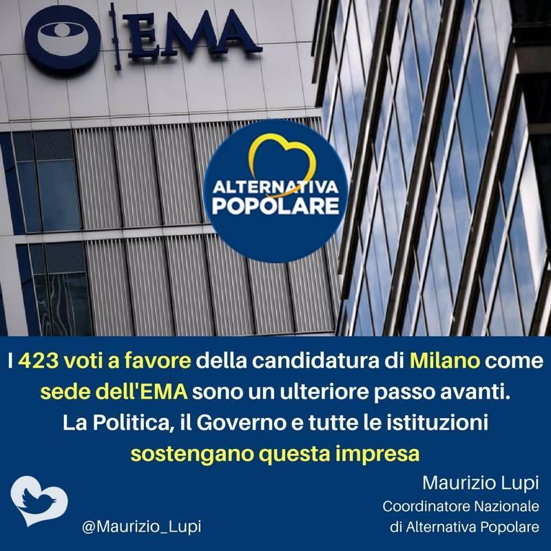 EMA: La Politica, il Governo e tutte le istituzioni sostengano questa impresa.