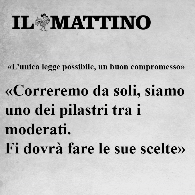 Intervista al Mattino: «L