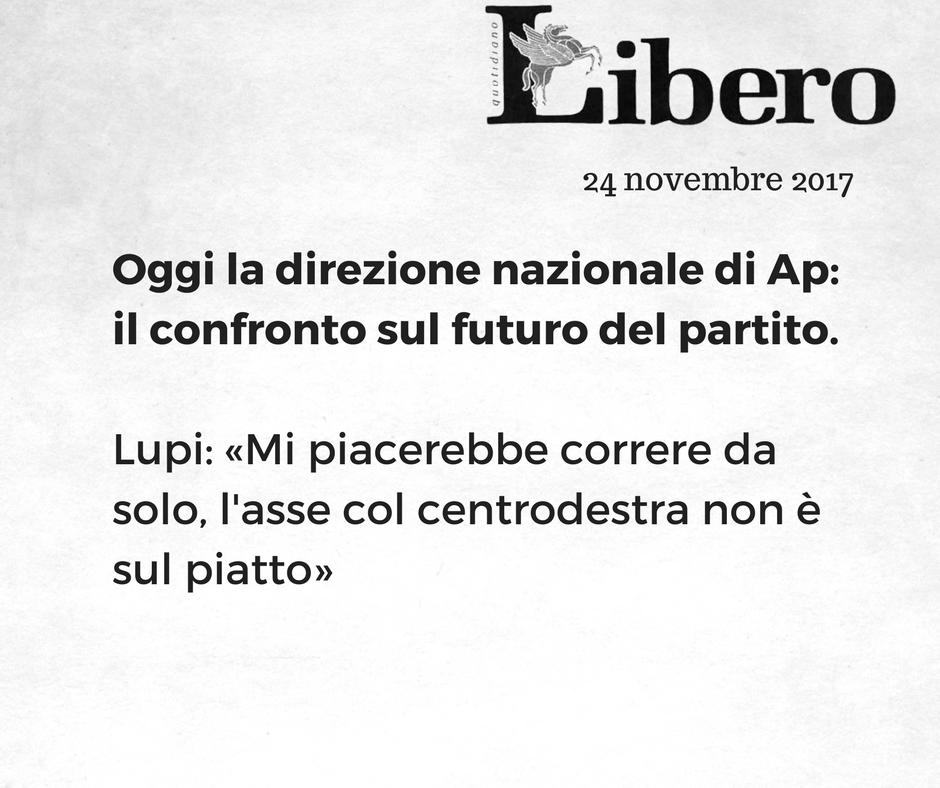 Oggi la direzione nazionale di Ap: il confronto sul futuro del partito.