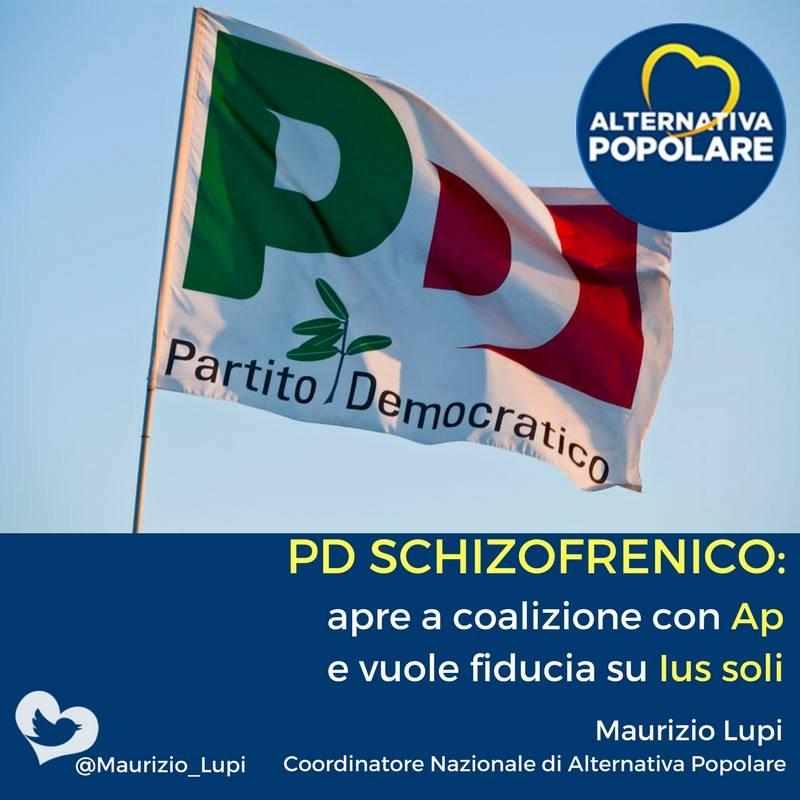 PD SCHIZOFRENICO: apre a coalizione con Ap e vuole fiducia su Ius soli