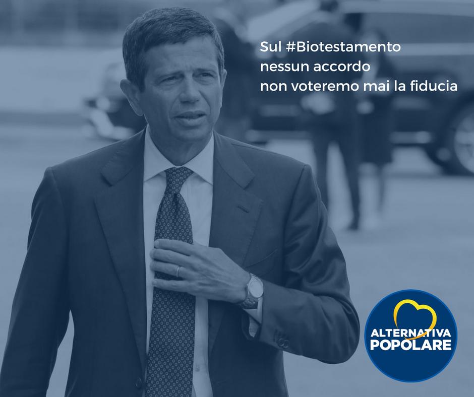 Sul #Biotestamento nessun accordo tacito:  non voteremo mai una fiducia e se non cambierà il testo voteremo no.