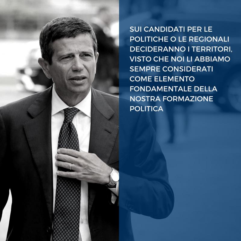 Sui candidati per le politiche o le regionali decideranno i territori