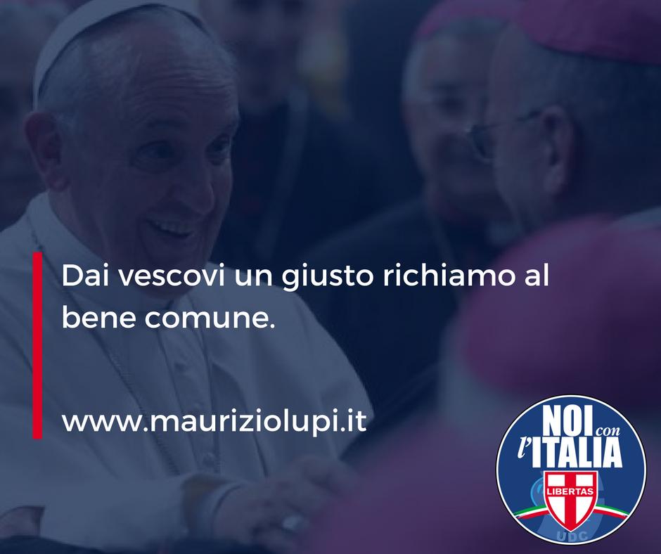Dai vescovi un giusto richiamo al bene comune.
