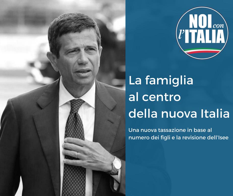 Maurizio Lupi Chiede una nuova tassazione in base al numero dei figli e la revisione dell'Isee. La famiglia al centro della nuova Italia