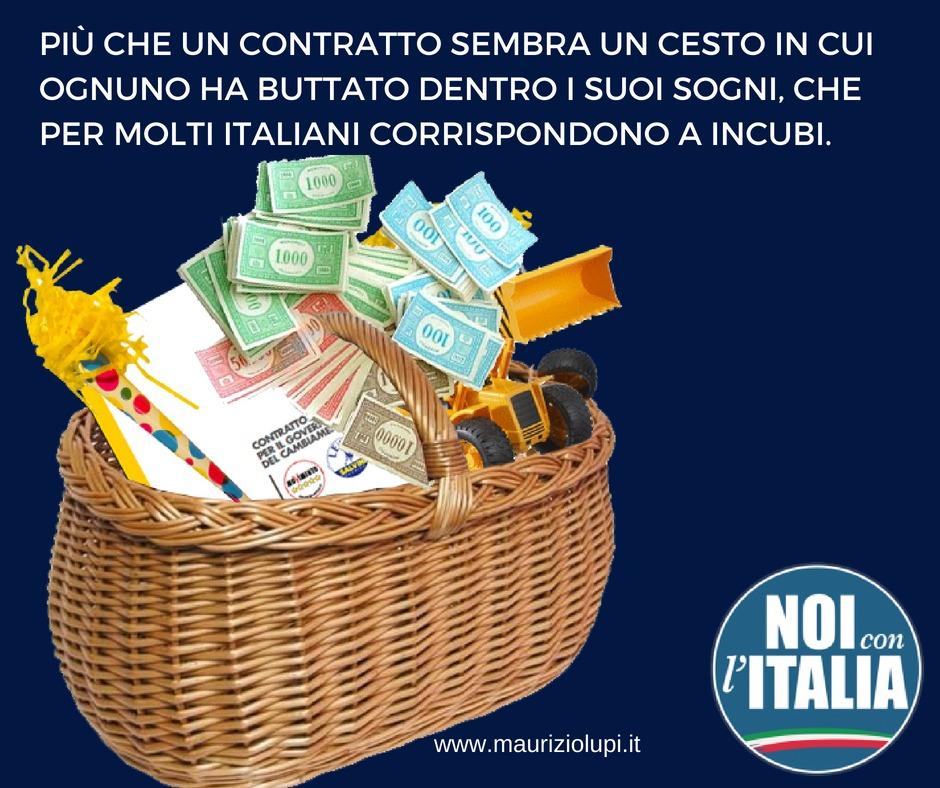 Governo Lega-M5S: Più che un contratto sembra un libro dei sogni, che per molti italiani corrispondono a incubi