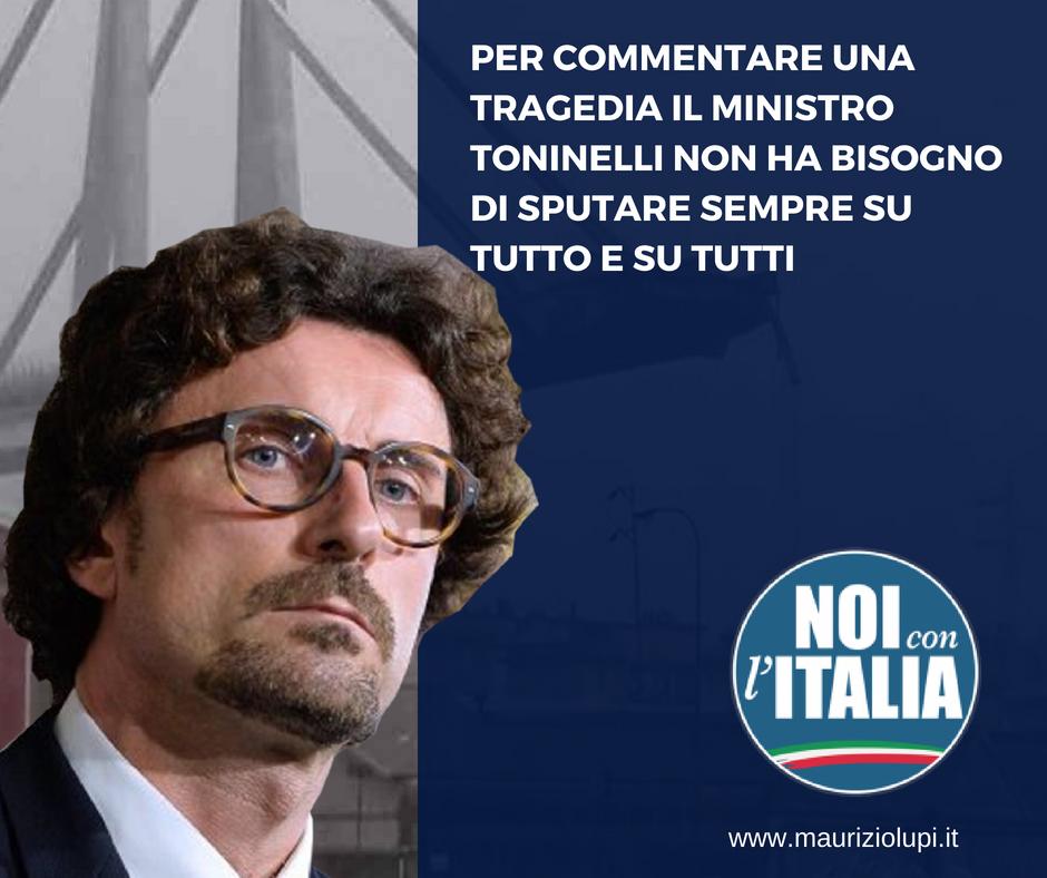 """Viadotto:"""" Toninelli sa solo lanciare accuse"""""""