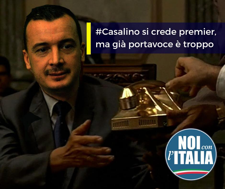 Casalino si crede premier, ma già portavoce è troppo.