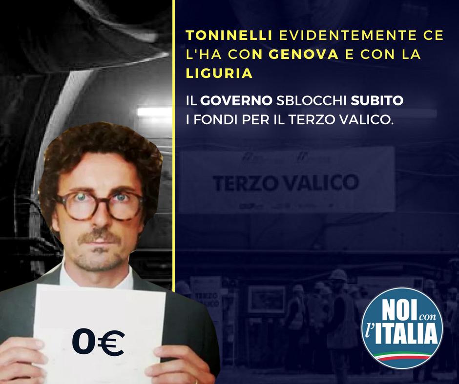 Terzo Valico: Il governo sblocchi subito i fondi.