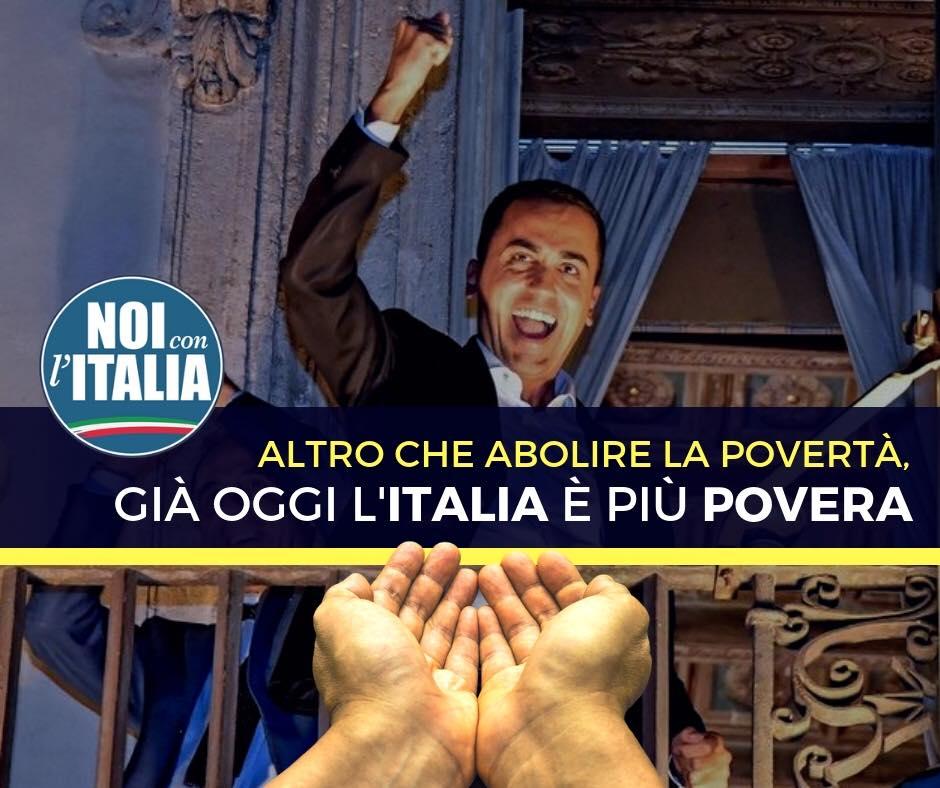 Altro che abolire la povertà, già oggi l'Italia è più povera.