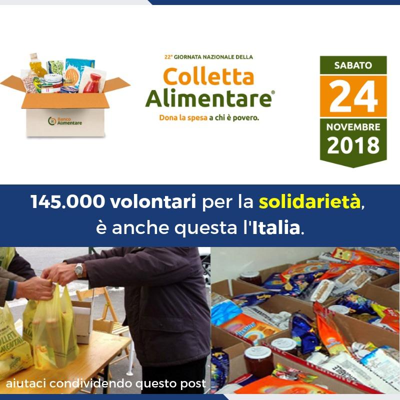 Domani nei supermercati di tutta Italia sarà la Giornata nazionale della Colletta alimentare.