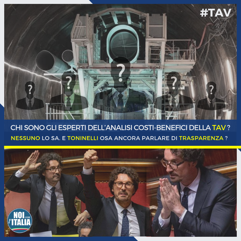 Interrogazione a Toninelli sulla TAV