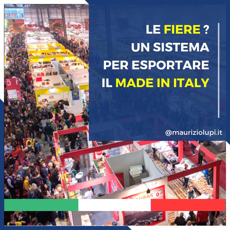 Lupi: «Le Fiere? Un sistema per esportare il Made in Italy»