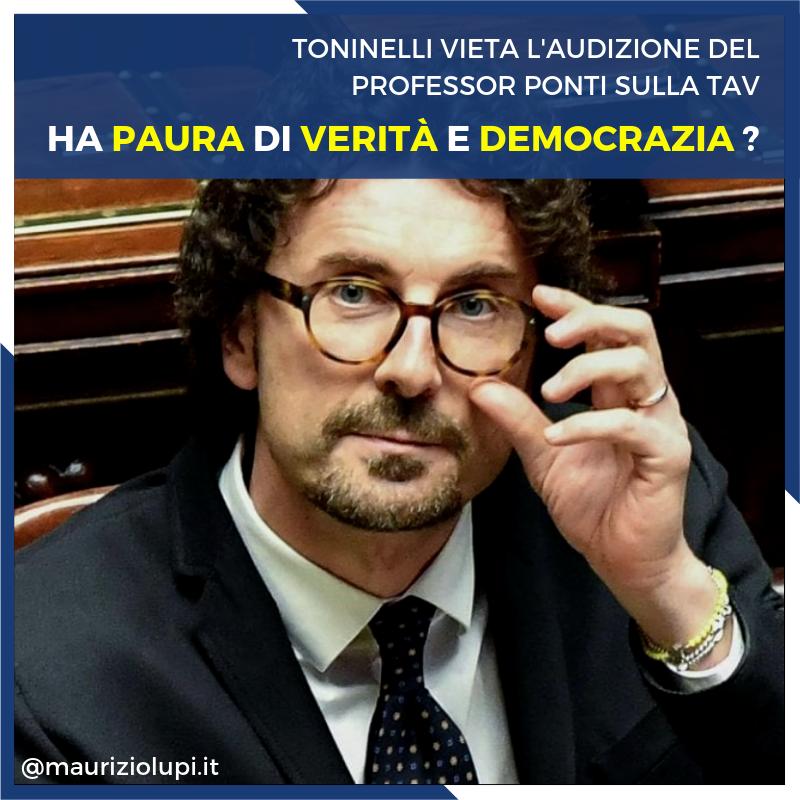 Che il ministroToninellinon avesse in grande considerazione il Parlamento lo sapevamo, che non abbia stima neanche degli esperti che si è scelto la dice lunga sulle sue capacità politiche e non solo.