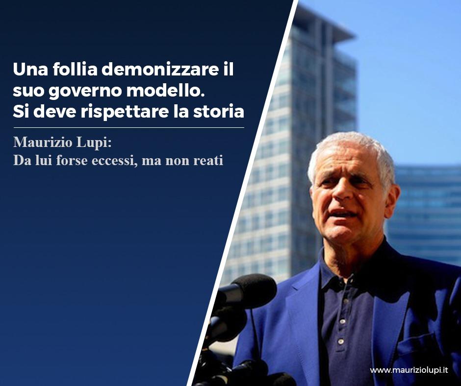 Intervista al Corriere: Formigoni. Una follia demonizzare il suo governo modello. Si deve rispettare la storia.