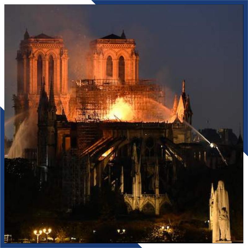 """#NotreDamedeParis: """"LaFedeè una chiesa, è una cattedrale radicata nel suolo di Francia.LaCaritàè un ospedale, un ricovero che raccoglie tutte le miserie del mondo.Ma senzaSperanza, tutto questo non sarebbe che un cimitero"""